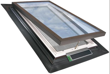 electric venting deck mount skylight