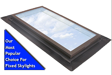 fixed deck mount skylight